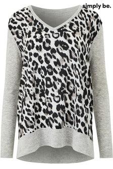 Simply Be Leopard Print Jumper