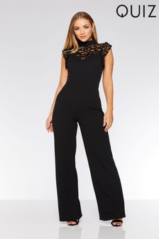 Quiz Lace High Neck Palazzo Jumpsuit
