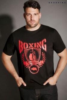 Bad Rhino Boxing Print T-Shirt