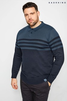 Bad Rhino Knitted Long Sleeve Polo Shirt