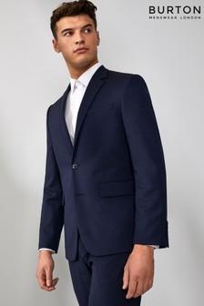 Burton Tailored Navy Stretch Suit Jacket