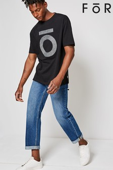 For Wide Leg Mid Wash Jeans