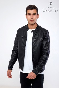 2nd Chapter Faux Leather Biker Jacket