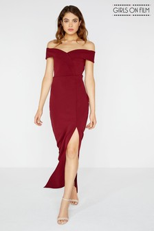Girls On Film Bardot Maxi Dress