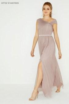 Little Mistress Mesh Maxi Dress