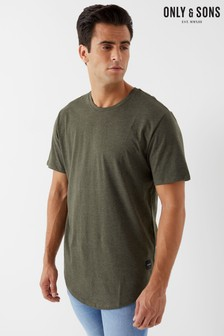Only & Sons Curved Hem T-Shirt