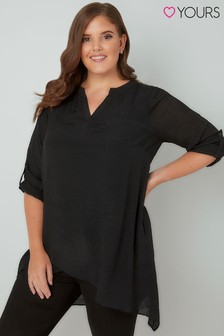Yours Notched Collar Neckline Top