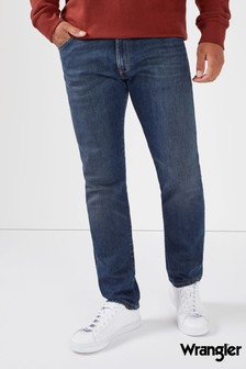 Wrangler Tapered Fit Mid Wash Jeans