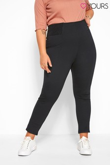 Yours Curve Control Waist Stretch Jersey Trousers