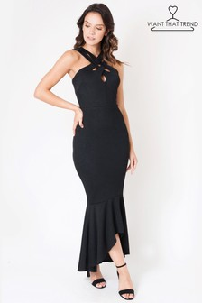 Want That Trend Fishtail Evening Dress