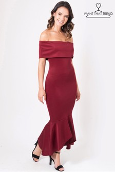 Want That Trend Bardot Maxi Dress