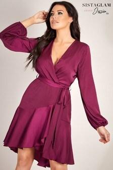 Sistaglam Loves Jessica Wrap Mini Dress