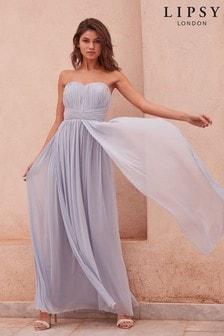 Lipsy Bella Bandeau Maxi Dress