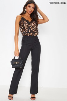 PrettyLittleThing Leopard Lace Cami