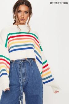 PrettyLittleThing Rainbow Stripe Knit Jumper