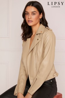Abbey Clancy x Lipsy Faux Leather Biker Jacket