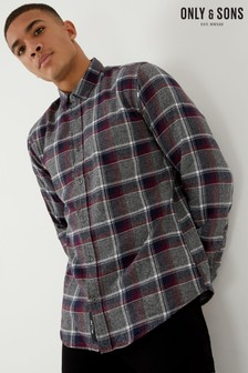 Only & Sons Long Sleeve Slim Fit Check Shirt