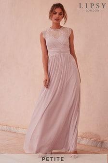 Lipsy Petite Elsa Mesh Maxi Dress