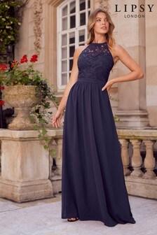 Lipsy Halter Lace Dress