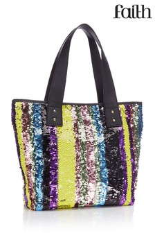 Faith Zadi Coloured Sequin Shopper Bag