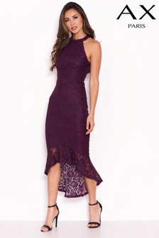 AX Paris Dip Hem Lace Dress