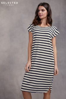 Selected Femme Short Sleeve Knee Dress