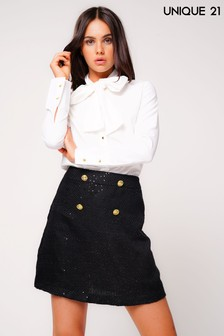 Unique 21 Tweed Skirt