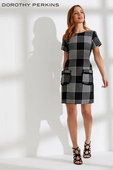 Dorothy Perkins Petite Check Shift Dress