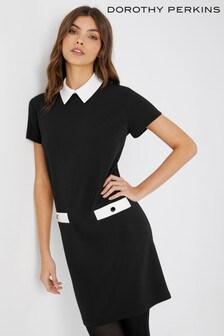 Dorothy Perkins Petite Shift Collared Dress