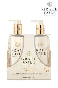 Grace Cole Nectarine Blossom & Grapefruit Hand Care Duo Set 2x300ml