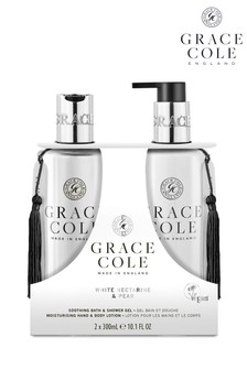 Grace Cole White Nectarine & Pear Body Care Duo Set 2x300ml