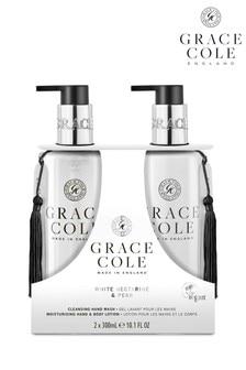 Grace Cole White Nectarine & Pear Hand Care Duo Set 2x300ml
