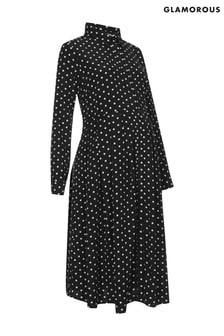 Glamorous Bloom Maternity Spot Print Maxi Dress