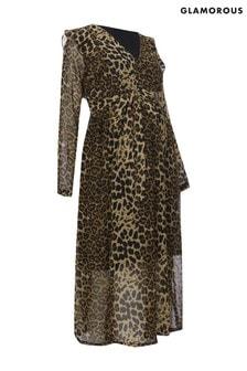 Glamorous Maternity Animal Print Dress