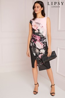 Lipsy 2-In-1 Printed Bodycon Dress