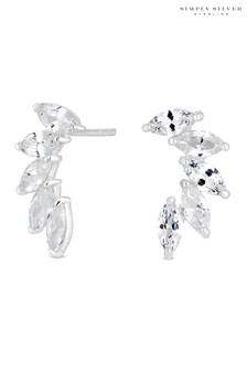 Simply Sivler Cubic Zirconia Ear Climber Earring