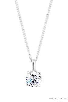 Simply Silver Cubic Zirconia Pendant Necklace