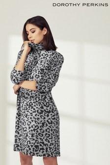 Dorothy Perkins Animal Print Jumper Dress