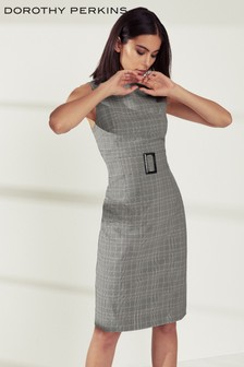 Dorothy Perkins Belted Check Dress