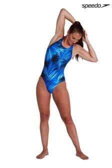 Speedo® Printed Powerback Swimsuit