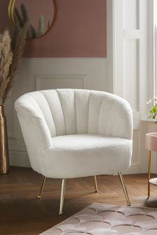 Stella Accent Chair With Gold Finish Legs