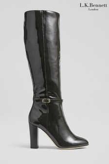 L.K.Bennett Grey Morgan Brooklyn Knee Boots
