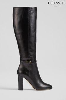 L.K.Bennett Black Morgan Brooklyn Knee Boots