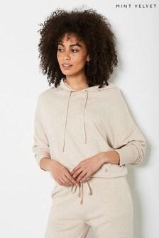 Mint Velvet Cream Knitted Hoodie