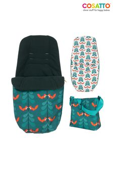 Cosatto Giggle Pushchair Footmuff and Changing Back Fox Friends