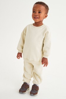 Oversized Crew And Joggers Jersey Set (3mths-7yrs)