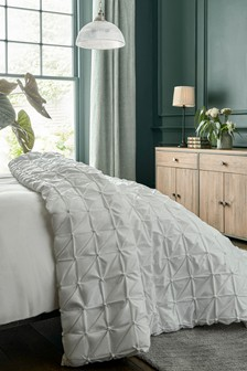 White All Over Pleated Bedspread
