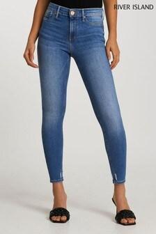 River Island Denim Medium Molly Mid Rise Sculpt Daft Jeans