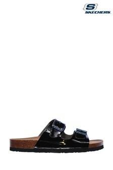 Skechers Black Granola Gloss Floss Sandals