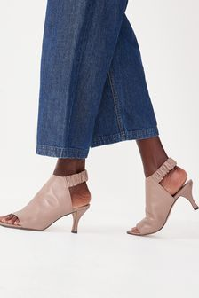 Signature Leather Ruched Shoe Boots